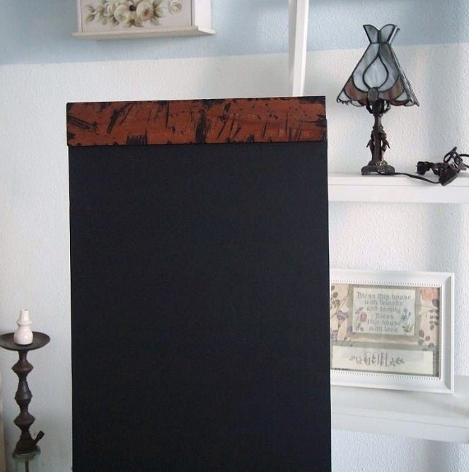 Burnt Wood Chalkboard (straight top border)Size 2