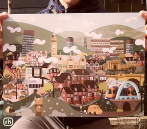 Image of 'Ultimate Sheffield' A3 Print