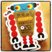 Image of robot sticker #01