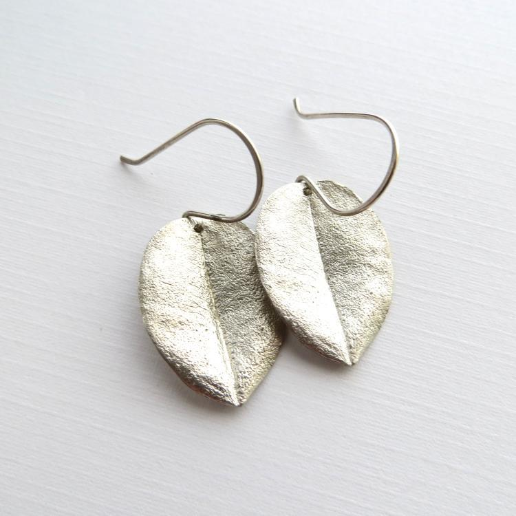 Image of Medium ohi'a leaf earrings