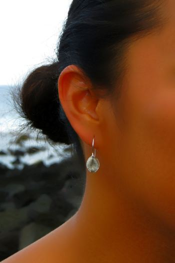 Image of Tiny ohi'a leaf earrings