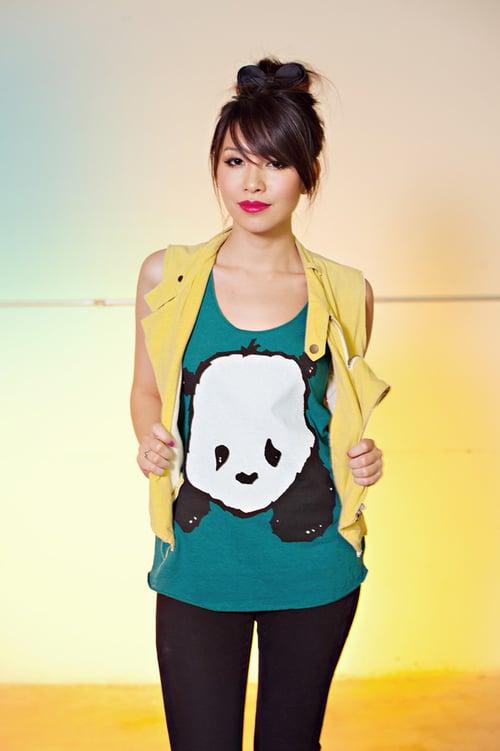 "Image of ""Baby Panda"" Racerback Tank Top"