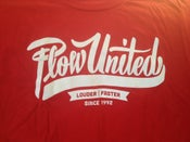 Image of Plow United cursive logo t-shirt