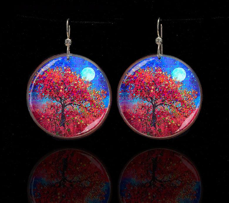 Image of Harvest Moon - Abundance Blessing Earrings