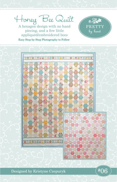 Image of PDF VERSION - Honey Bee Quilt Pattern