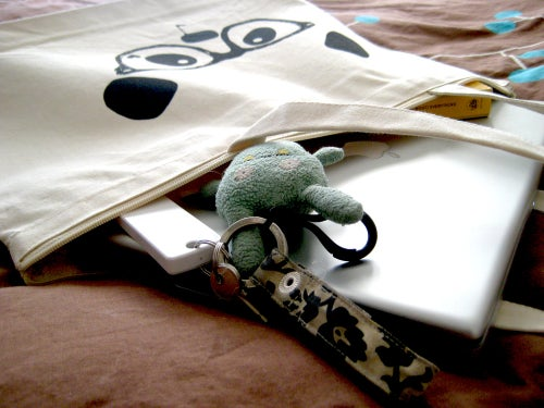 "Image of ""Nerdy Panda"" Tote Bag"