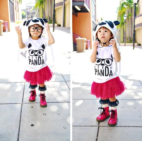 "Image of ""NerDy PanDa"" Kid's Tee"