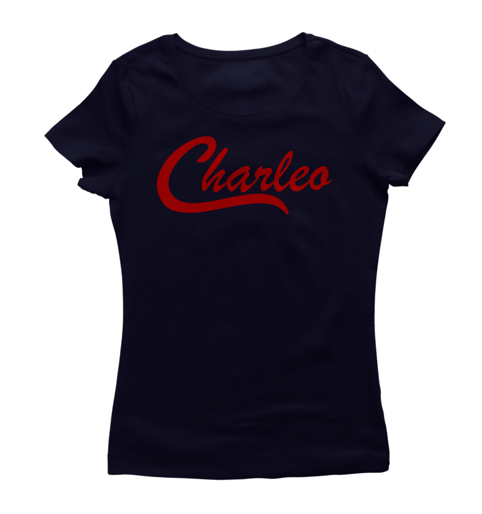 Image of Ladies Original Charleo Tee   Navy/Red