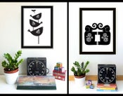 Image of Birds and Elephants Black & White print set