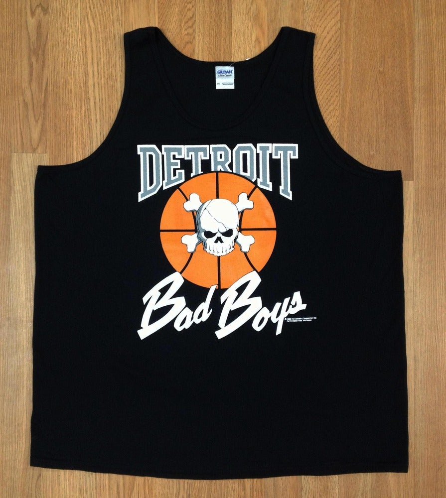 Image of Vintage Retro Detroit Pistons Bad Boys Tank Top