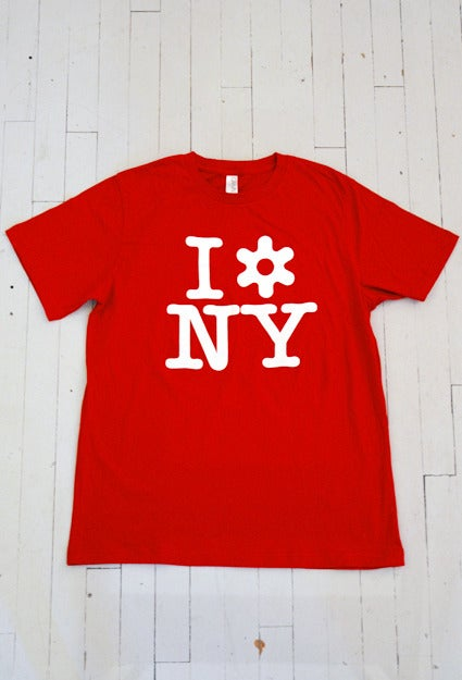 Image of MEN'S I LOVE NY T-SHIRT IN RED