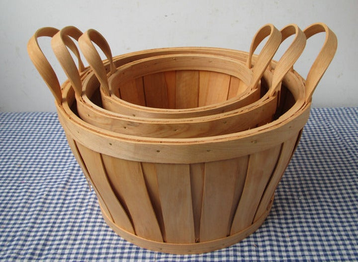 Image of  Bent wood baskets (B) - set of 3