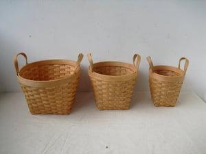 Image of Bent wood baskets (C) - set of 3