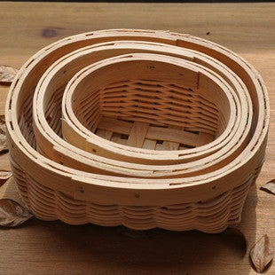 Image of Bent wood baskets (A) - set of 3