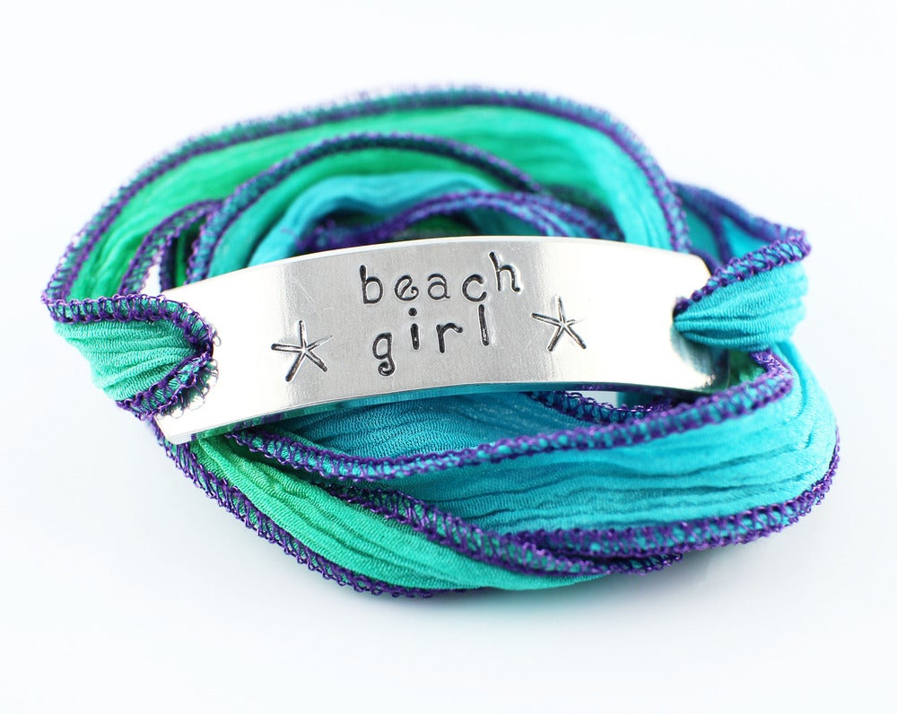 Image of Beach Girl Silk Ribbon Bracelet