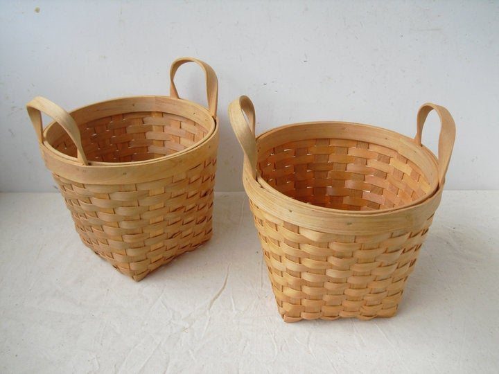 Image of Bent wood baskets (C) - set of 3
