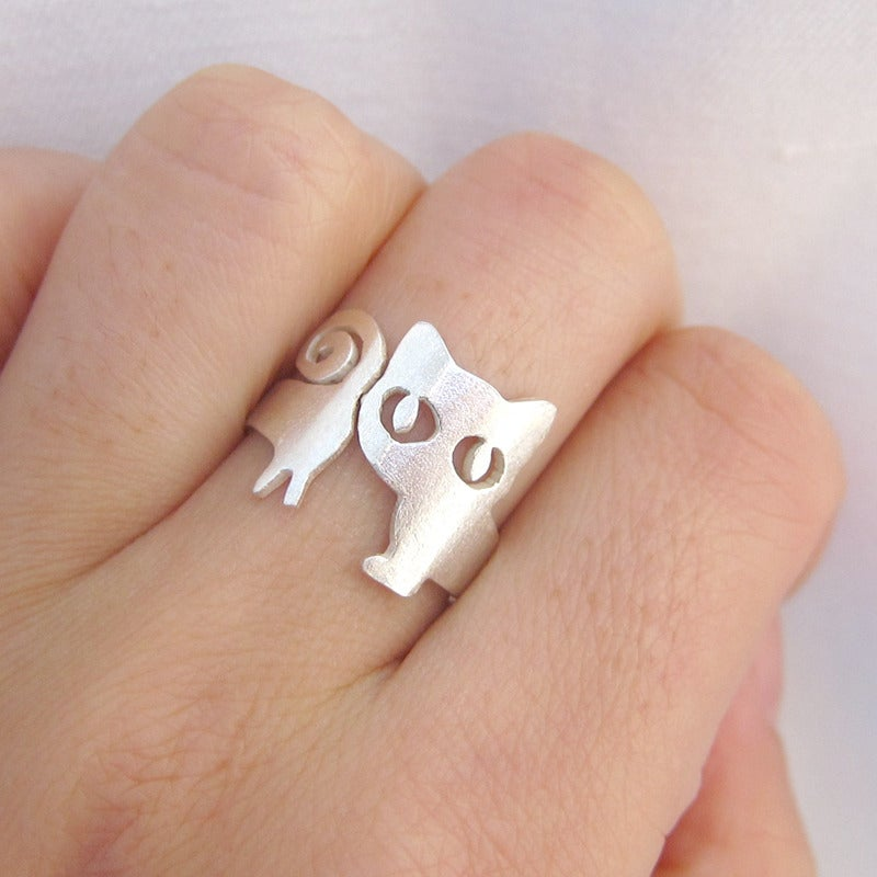rings plated squishy kitten silver products cat ears lady squish