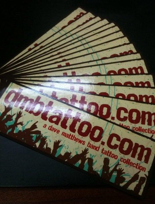Image of DMBTattoo Sticker 5 Pack