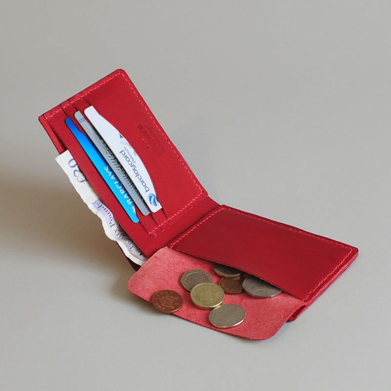 Image of Premium Coin Bi-Fold Wallet - Crimson