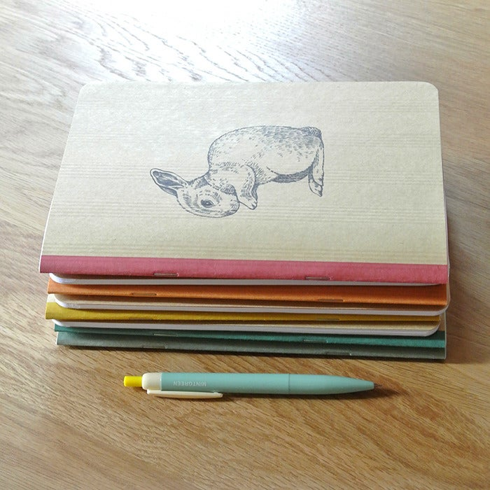 Image of Cahier A5 Lapin Magicien couverture Kraft