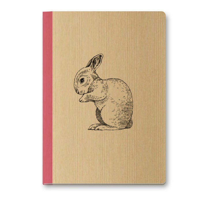Image of Cahier A5 Lapin couverture Kraft