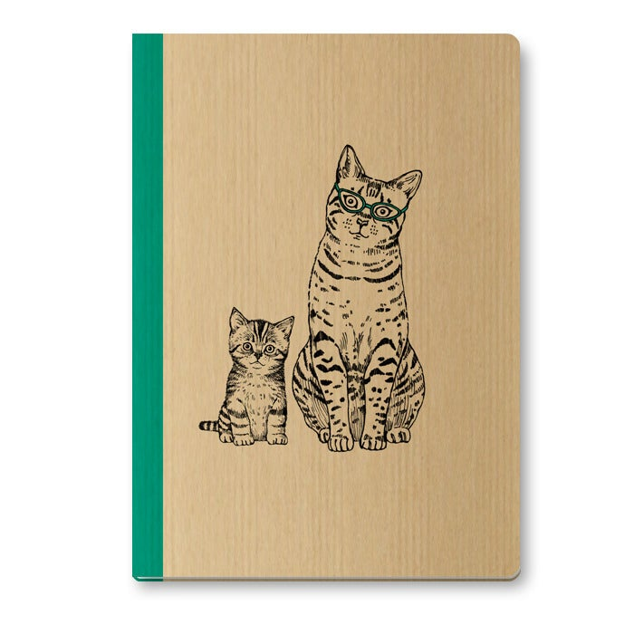Image of Cahier A5 Maman chat couverture Kraft