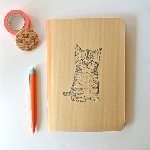 Image of Cahier A5 Chaton couverture Kraft