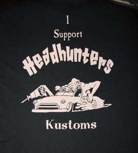 Image of Headhunters support shirts, All other countries price including shipping