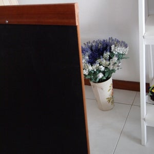 Medium Single Sided Standing Chalkboard with top and bottom border