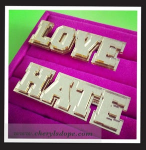 Image of Love Hate Ring Set