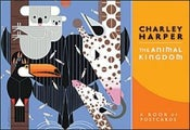 Image of Charley Harper Animal Kingdom Post Card Book Charles Harper Mid Century Modern Art Todd Oldham Birds