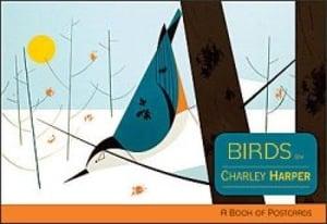 Image of Charley Harper Birds Post Card Book Charles Harper Mid Century Modern Art Todd Oldham Birds
