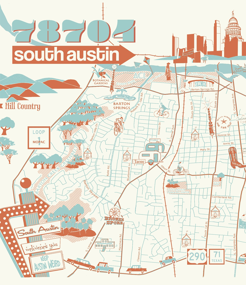 Image of 78704 South Austin Poster
