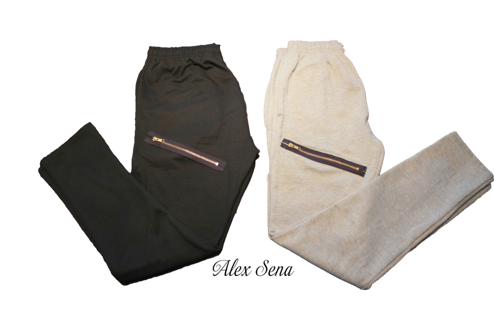 Image of Skinny Sweatpants with Gold Zippers