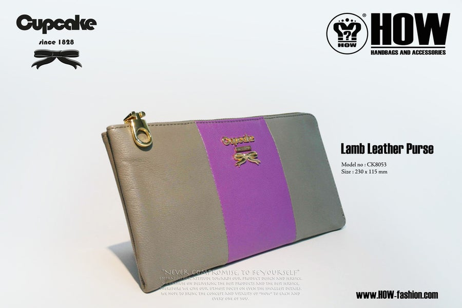 Image of Lamb Leather Purse [CK8053GRY]
