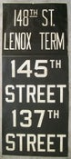 Image of 1962 RedBird New York Subway Sign w/ Destinations: 137TH ST B'Way, 19x44 inches