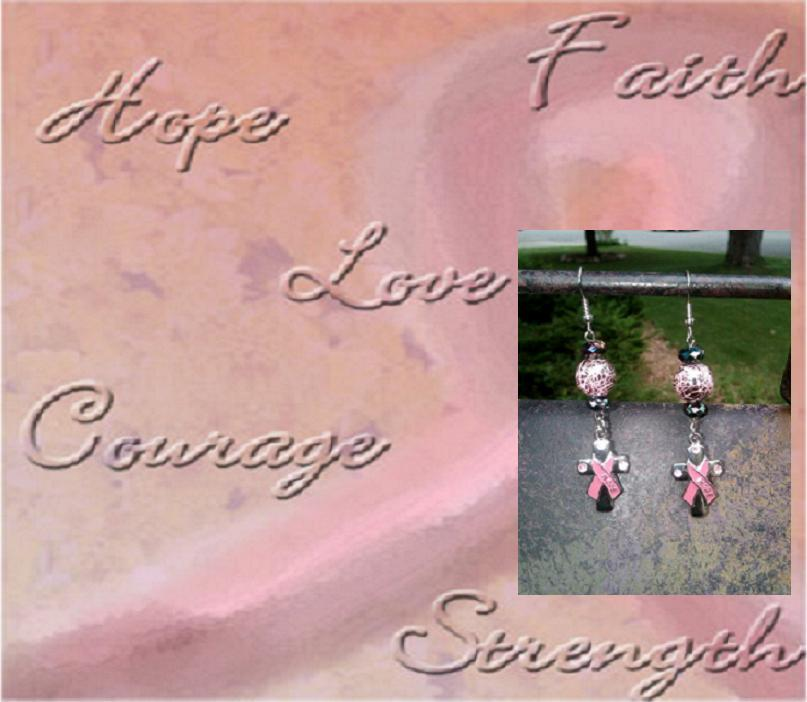 Image of Breast Cancer Awareness Earrings - BCA007