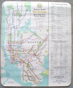 Image of Original 1948 New York Subway Map by Hagstrom, 23x28 inches