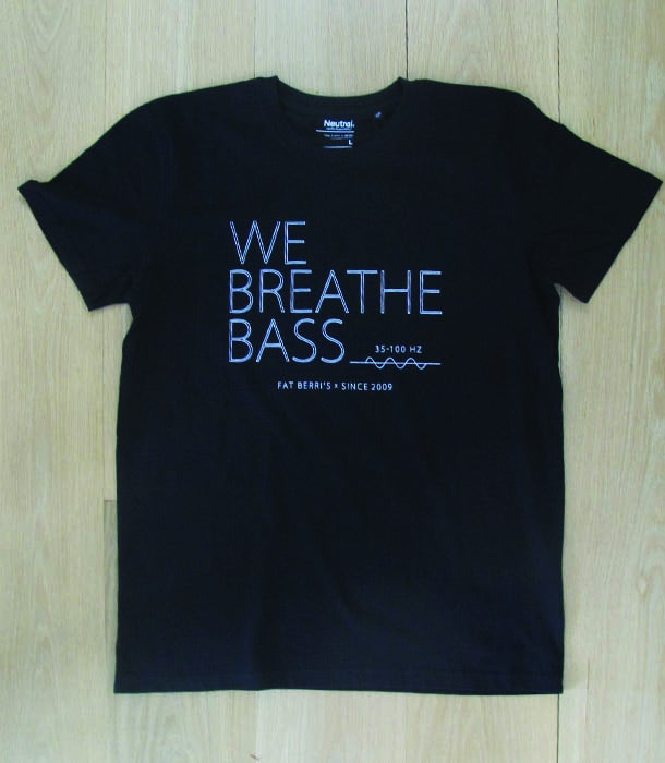 Image of We Breathe Bass T-Shirt White on Black