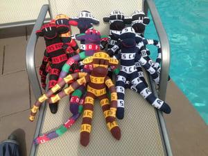 Image of Large Football Sock Monkeys
