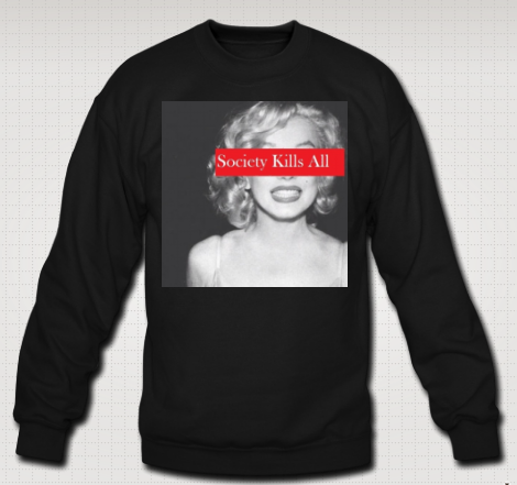 Image of Society Kills All Marilyn Crewneck