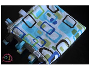 Image of Minky Ribbon Blanket-Mod Geo