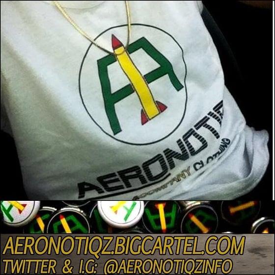 Image of White Aeronotiqz Rasta-Logo Tank
