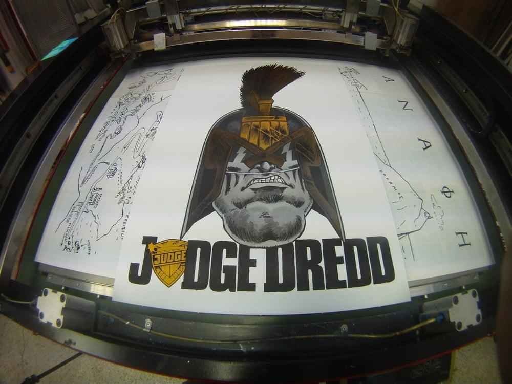 Judge Dredd / Rufus Dayglo & Comicdom Con Athens 2013 / Silkscreen