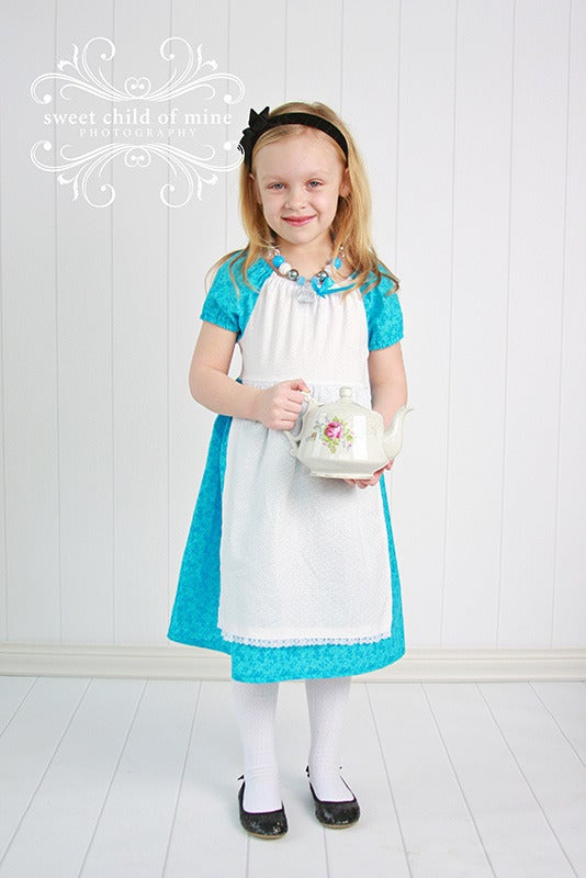 Image of Alice in Wonderland Inspired Princess Dress