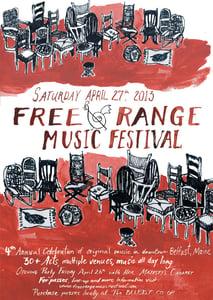 Image of 2013 Free Range Music Festival Poster