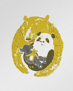 "Image of ""Triple Bear Hug"" letterpress poster"