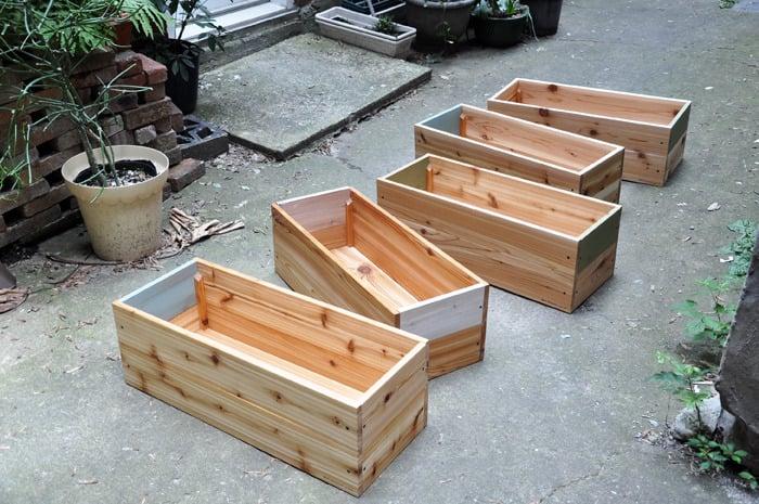 Image of 4.1 Bacs à fleurs - Cedar Planters