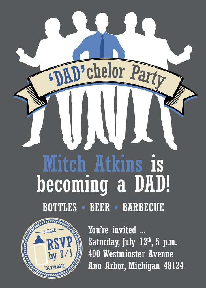Image of Dadchelor Party Invitation