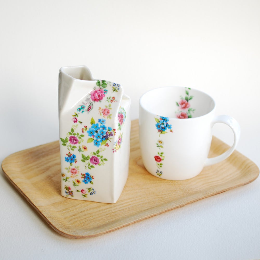 Image of Mixed Posy Porcelain Milk Jug